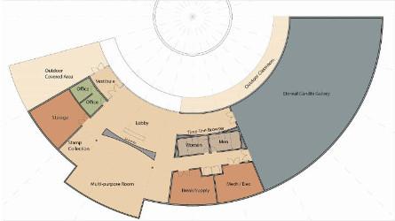 Eternal Gandhi Museum Floor