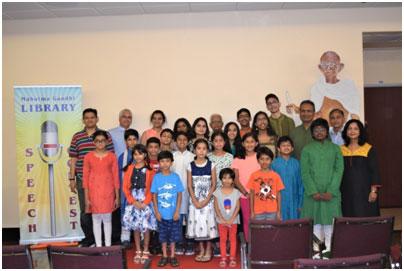 15th Annual Mahatma Gandhi Week - 2018 Speech Contest